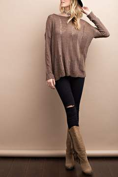 Easel Long Sleeve Knit Sweater