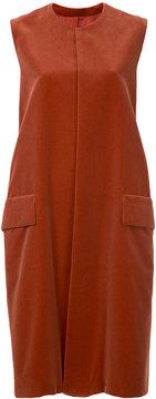 08sircus mid-length sleeveless jacket