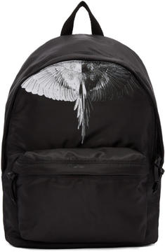 Marcelo Burlon County of Milan Black Aish Backpack
