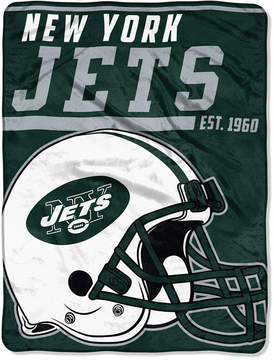 Northwest Company New York Jets Micro Raschel 46x60 40 Yard Dash Blanket
