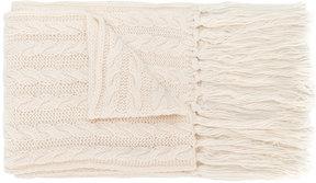 Twin-Set jewelled bow chunky knit scarf