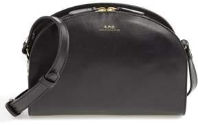 A.P.C. 'Sac Demi Lune' Leather Crossbody Bag