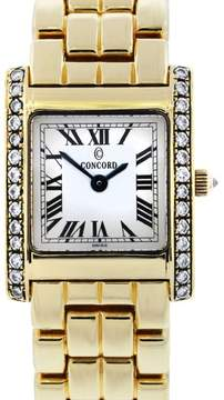Concord La Tour 29-25-648 14K Yellow Gold with Diamond Quartz 20mm Womens Watch