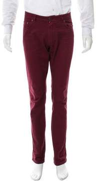 Salvatore Ferragamo Maroon Relaxed-Fit Jeans