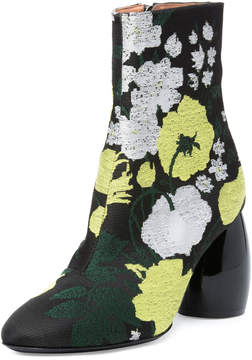 Dries Van Noten Brocade Round-Heel Boot, Multi