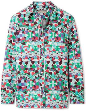 Emilio Pucci Printed Cotton-poplin Shirt - Mint