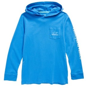 Vineyard Vines Boy's Whale Pocket Hooded T-Shirt