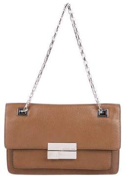 Michael Kors Leather Shoulder Bag - BROWN - STYLE