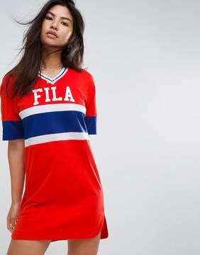 Fila Oversized Varsity T-Shirt Dress