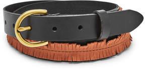 Fossil Fringe Skinny Belt