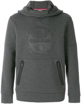 Napapijri logo patch hooded sweatshirt