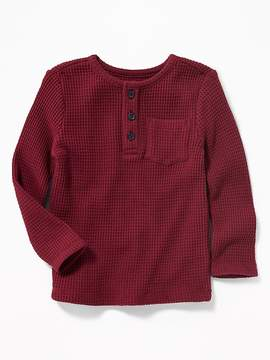 Old Navy Thermal Waffle-Knit Henley for Toddler Boys