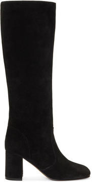 Maryam Nassir Zadeh Black Suede Lune Tall Boots