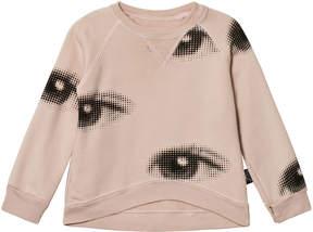 Nununu Pastel Pink Eye Print Sweatshirt