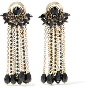 Etro Gold-plated Crystal Earrings