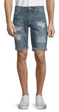 Buffalo David Bitton Evan Distressed Denim Shorts