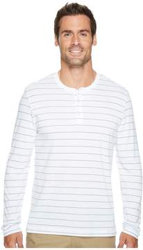 Kenneth Cole Sportswear Long Sleeve Henley w/ Wicking Men's Clothing