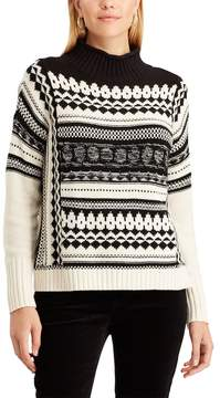 Chaps Women's Patterned Mock-Neck Sweater