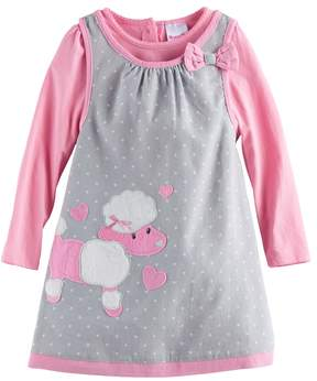 Nannette Toddler Girl Poodle Jumper and Long-Sleeve Tee Set