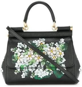 Dolce & Gabbana white geranium printed Sicily bag