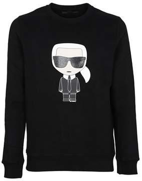 Karl Lagerfeld Men's 572911990 Black Cotton Sweatshirt.