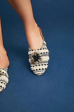Anthropologie Dreamy Slide Slippers