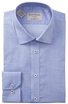 Hickey Freeman Mini Checkered Contemporary Fit Dress Shirt