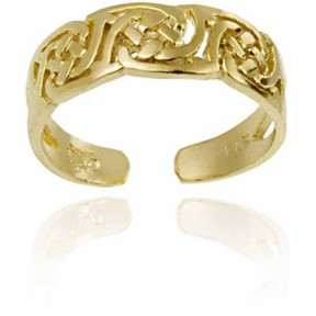 Celtic Top Seller Irish 18kt Gold over Sterling Silver Knot Toe Ring
