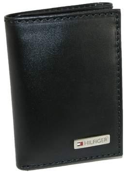 Tommy Hilfiger Men's Leather Fordham Trifold Wallet, Black