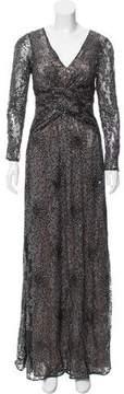 David Meister Lurex Evening Dress