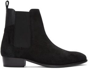 H By Hudson Black Suede Watts Chelsea Boots