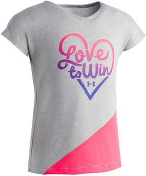Under Armour Girls 4-6x Love To Win Tee