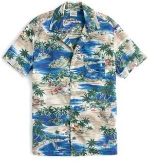 J.Crew Slim Fit Island Print Sport Shirt