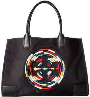 Tory Burch Ella Rope Tote Tote Handbags - BLACK - STYLE