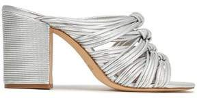 Rachel Zoe Odessa Knotted Metallic Leather Sandals
