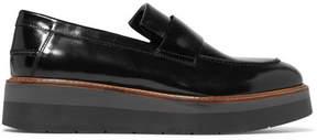 Vince Dorsey Glossed-leather Platform Loafers - Black