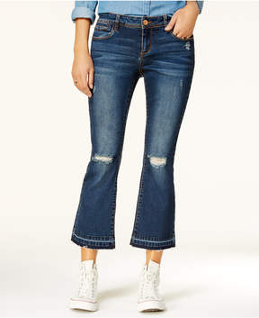 Dollhouse Juniors' Ripped Cropped Jeans