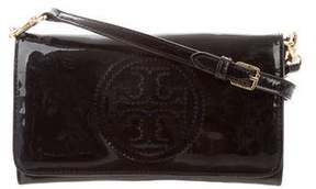 Tory Burch Small Perforated Logo Crossbody Bag - BLUE - STYLE