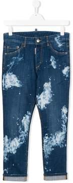 DSQUARED2 Teen paint splatter jeans