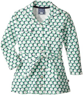 Toobydoo Geo Green Belted Shirtdress Girl's Dress