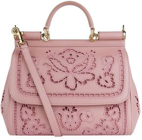 Dolce & Gabbana Medium Sicily Lace Shoulder Bag - MULTI - STYLE