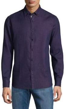 Report Collection Textured Cotton Button-Down Shirt