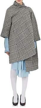 Balenciaga Women's Checked Crossover-Front Virgin Wool-Mohair Opera Coat