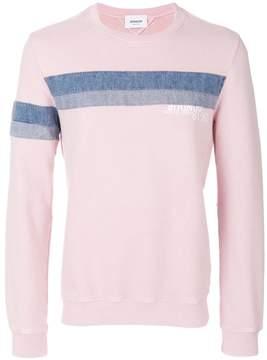 Dondup denim stripe sweatshirt