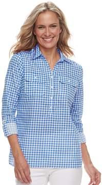 Caribbean Joe Women's Checked Shirt