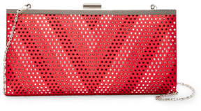 Jessica McClintock Laura Embellished Satin Clutch