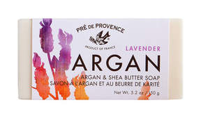 Pre de Provence Argan and Shea Butter Lavender Soap by 150g Soap Bar)