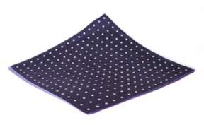 Black & Brown Black Brown 4 Panel Dot Pocket Square