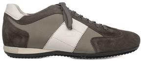 Alberto Guardiani Gray/white Sport Man Suede Sneakers