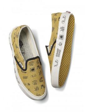 Vans x Brain Dead Classic slip on sneakers